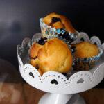 Muffins al cioccolato bianco e mirtilli