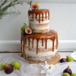 Naked cake Fichi e Rosmarino con Caramello salato