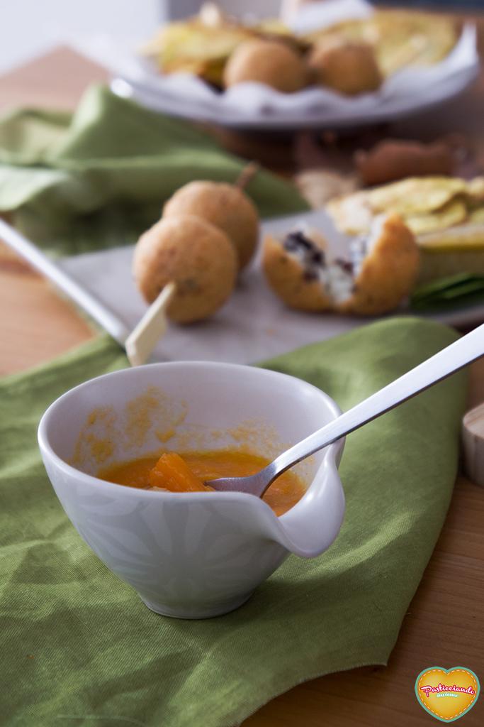 la zuppa in agrodolce con porro caramellato tapas per mtc60
