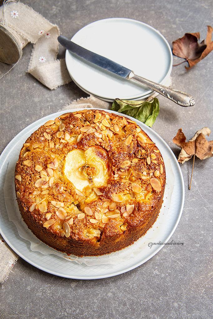 torta-mele-mandorle-zenzero