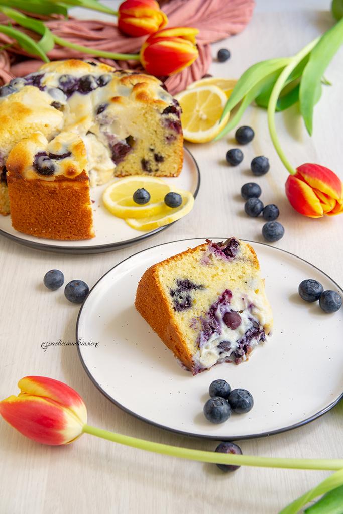 torta mirtilli limone