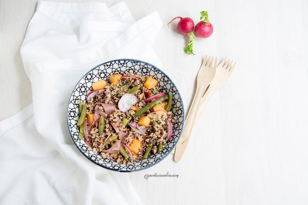 insalata-quinoa-fagiolini-melone